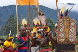 Procession with Book of the Gospels representing the arrival of the Good News to Papua New Guinea